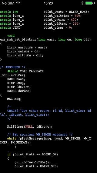 [开源APP推荐] Vim – 著名的VIM的iOS移植版