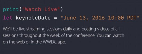 苹果发出 WWDC 发布会邀请函 当地时间6月13日上午10点
