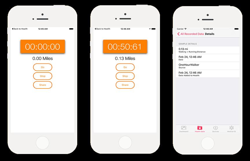 [开源APP推荐] OneHourWalker – 用HealthKit开发的健身 App