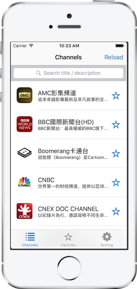 [开源APP推荐] WatchTV-Client – 观看电视节目的 iOS universal app