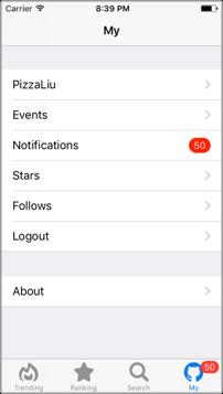 [开源APP推荐] PigHub – A lite GitHub explorer of iOS